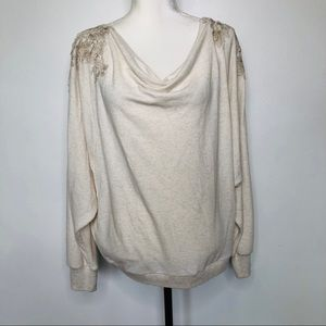 Meadow Rue Bria Lace Back Top Size XL